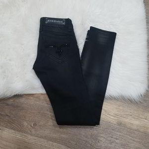 《A11》Rock Revival Black Amy Skinny Long Jeans